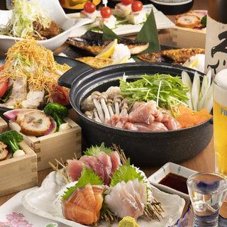 各種宴会にぜひ◎地鶏メインの豊富なコースは飲み放題付き!
