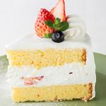 季節のフルーツショートケーキ