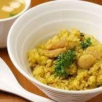 Riz gout curry saute a la poele ドライカレー 鶏スープ付き