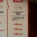 札幌牛亭 - ご飯の量