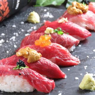 熊本直送!!新鮮な高タンパク低カロリーな肉寿司多数♪