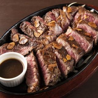 肉厚!1ポンド牛ステーキボリュームたっぷり約500gステーキ