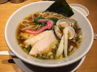 むぎとオリーブ 銀座店 - 特製蛤SOBA  1150円  2019.01