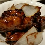 102345091 - 豚肉の黒酢炒め。