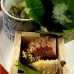 102347028 - タコ・とこぶし ワサビ葉椎茸寿司