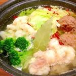 ジャパスタ - 冬季限定!塩麹の黄金スープ 洋風牛モツ鍋