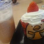 スシロー - おいしかったアイスカフェラテと~ちっちゃかったけどおいしかったカップケーキ^^