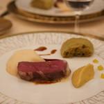 SALONE TOKYO - 短角牛アッロースト 鰯の赤ワインソース