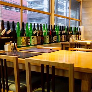 落ち着いた和モダンの店内は、大切な人とのお食事にも最適です