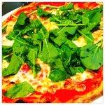 10238695 - サラミと季節野菜のピザ