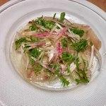 102383643 - 熊本県産ブリのカルパッチョ 柚子胡椒風味 1400円