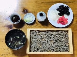 手打ち大石田そば きよ - 板そば+鳥つけ汁 ¥1000