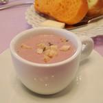 グリル 木の実 - 紅芋のポタージュ