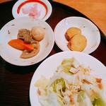 菜鶏 - 料理写真:鶏肉以外で楽しみました