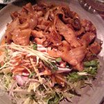 電気食堂 - ポークガーリック焼き