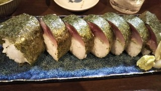 吾作 - 締めの絶品さば寿司。どんだけ食うねん。。。
