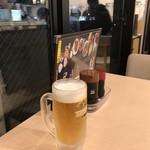 食事処 こもれび - サウナでととのったらやはり生ビールでしょ~(^O^)/