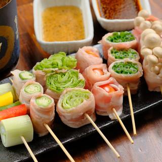 野菜肉巻き!季節野菜をお肉で巻いた人気メニュー!
