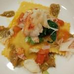 エノテカラウラ - 料理写真:毛蟹のラヴィオリ