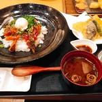 あっぱれ天風 - 娘の海鮮ユッケ丼セット