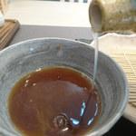 102408152 - 蕎麦湯はトロみがありました