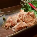 ゆず - 鶏の塩焼き ワサビ餡 1050円