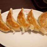 翠葉  - エビチリセットの餃子