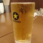 イタリアン居酒屋 イタサカマルシェ - 生ビール 泡なし