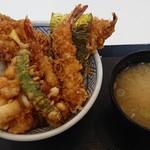 日本橋 天丼 金子半之助 - 江戸前天丼(味噌汁付)