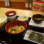 すき家 - 納豆玉定食(¥380税込み)