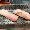 寿司処 都々井 - 料理写真:活〆かんぱち、金目鯛炙り