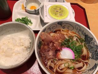 驛釜きしめん - ミニ納豆定食600円