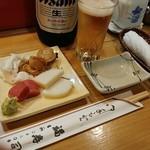 福寿司 - お通し&びあ