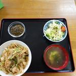 おぷゆう食堂 - カーキたこ丼¥800(19-02)