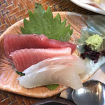 じんだんぼ - お刺身。       美味し。