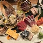 路地裏魚金 - お刺身6点盛スペシャル