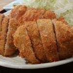 とんかつ石垣亭 - ミックス定食(ヒレ&ロース)