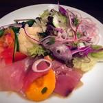 トラットリア ヴィヴァーチェ - 鮮魚のカルパッチョ サラダ仕立て