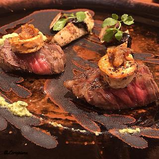 千陽 - 料理写真:倉石牛、鮟鱇の肝、生海胆、海老芋