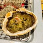 海勇水産 - カニ味噌甲羅焼き