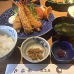 磯料理 開福丸 - 海老フライ