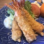 磯料理 開福丸 - 海老フライアップ