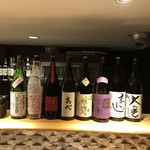 ひとはし - 秀逸な日本酒のラインナップ