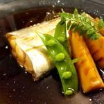 shimmikushi - 3800円コースの幅広い太刀魚煮付け
