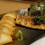 shimmikushi - 3800円コースの長芋短冊と京揚げ