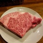 ステーキ&ハンバーグ ひげ - 焼く前