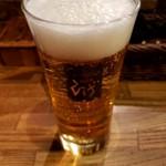 ステーキ&ハンバーグ ひげ - ビール