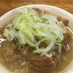 タツ屋 - おすすめセット¥550(税別)の選べる一品、ミニもつ煮。