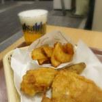 ケンタッキーフライドチキン - ソラマチ店オリジナルの生ビールチキンセット(1,050円)
