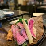 零 - ローストビーフの朴葉焼き